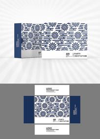 矢量花朵底纹包装盒设计