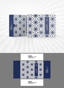 矢量几何背景包装盒设计