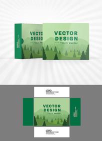 矢量山峦背景包装设计