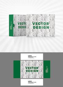 矢量树皮纹理包装盒设计