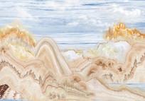 石纹山水背景墙