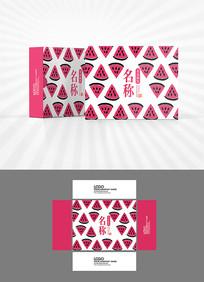 西瓜卡通图案包装盒设计