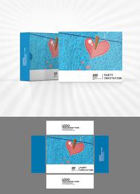 心形元素包装盒设计