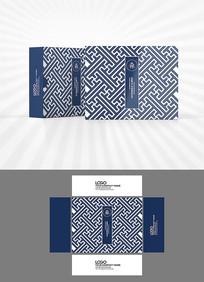 中国风背景包装盒设计