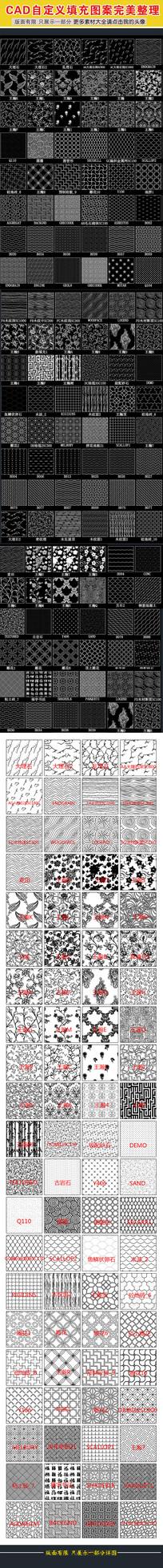 CAD自定义填充图案完美整理