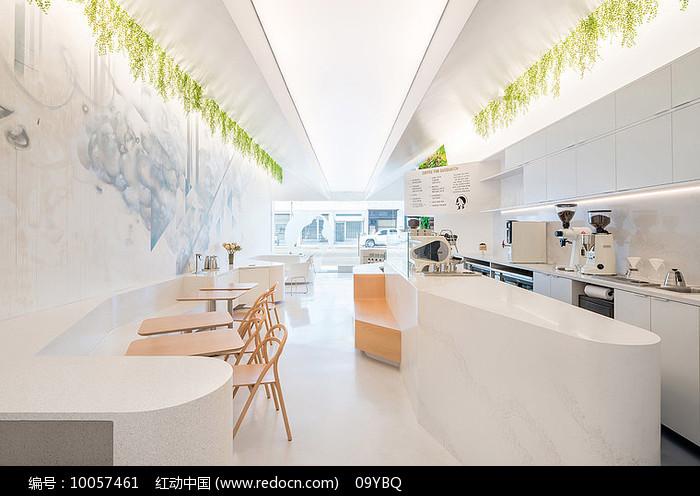 白色极简主题餐厅图片