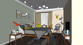 北欧风格卧室模型