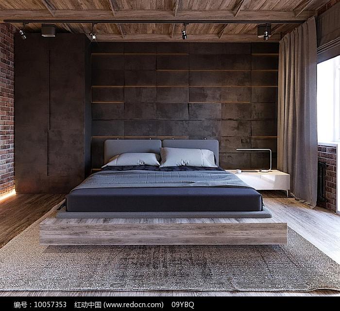沉稳木质卧室图片