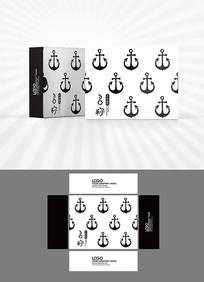 船锚图案包装盒设计