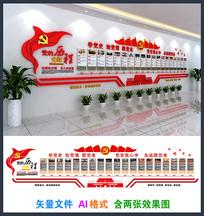 党建党史光辉历程文化墙