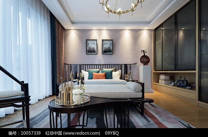 典雅新中式卧室设计图片