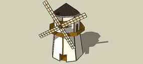 风车SU模型