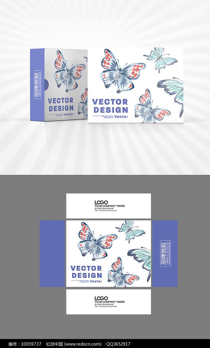 缤纷蝴蝶包装盒设计图片
