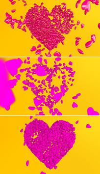 红色爱心情人节片头模板
