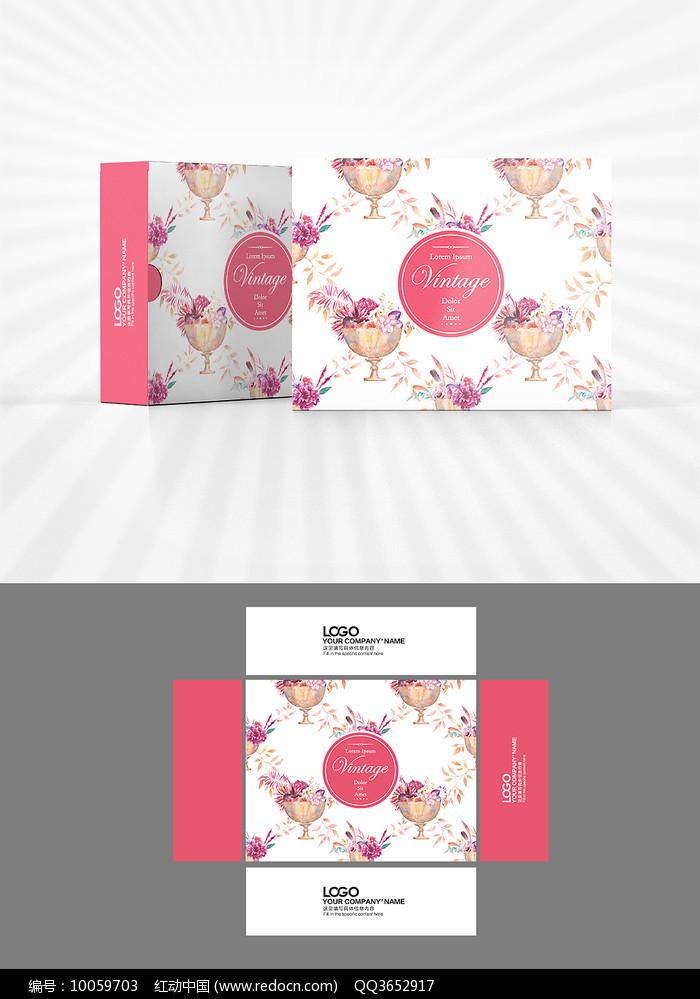 花朵背景包装设计图片