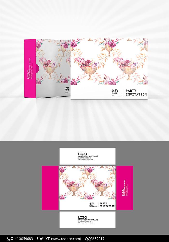 花朵背景图案包装设计图片