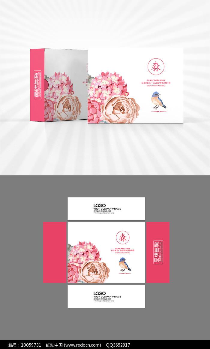 花鸟元素包装设计图片
