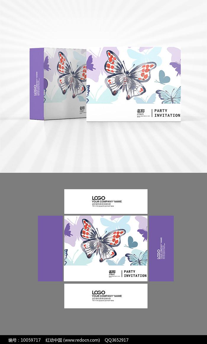 蝴蝶飞飞包装盒设计图片