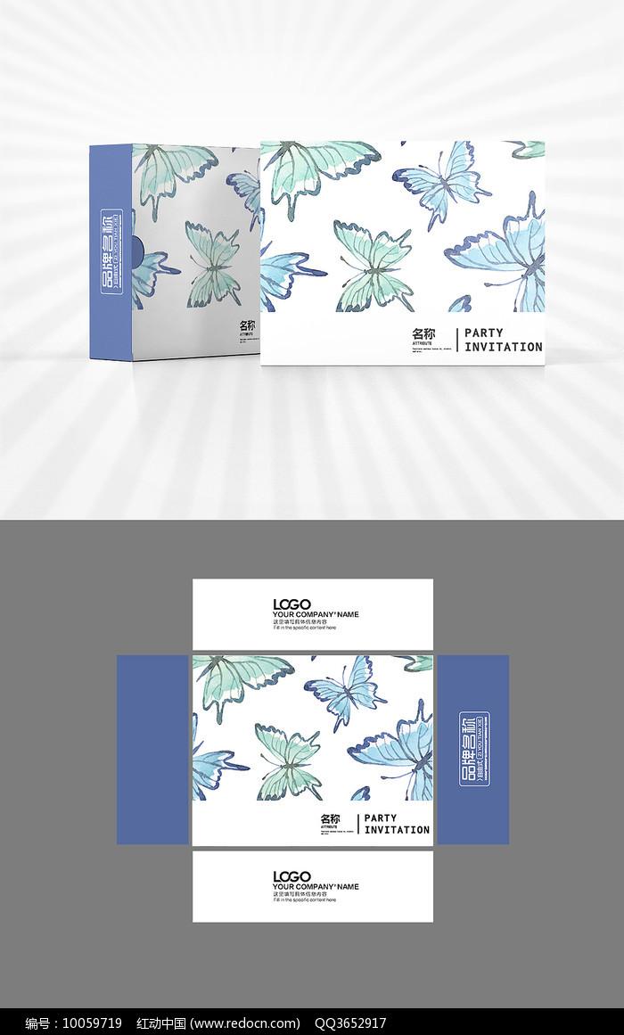蝴蝶图案包装盒设计图片