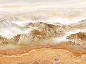江山如画大理石石纹背景墙