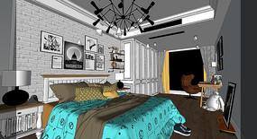 简美卧室效果图