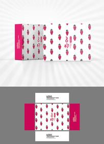卡通草莓图案包装盒设计