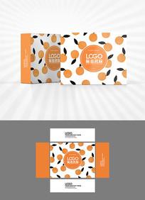 卡通橘子图案包装设计