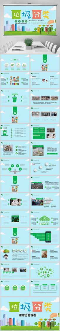 垃圾分类绿色低碳环保局PPT