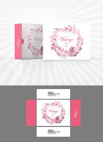 浪漫花环包装盒设计