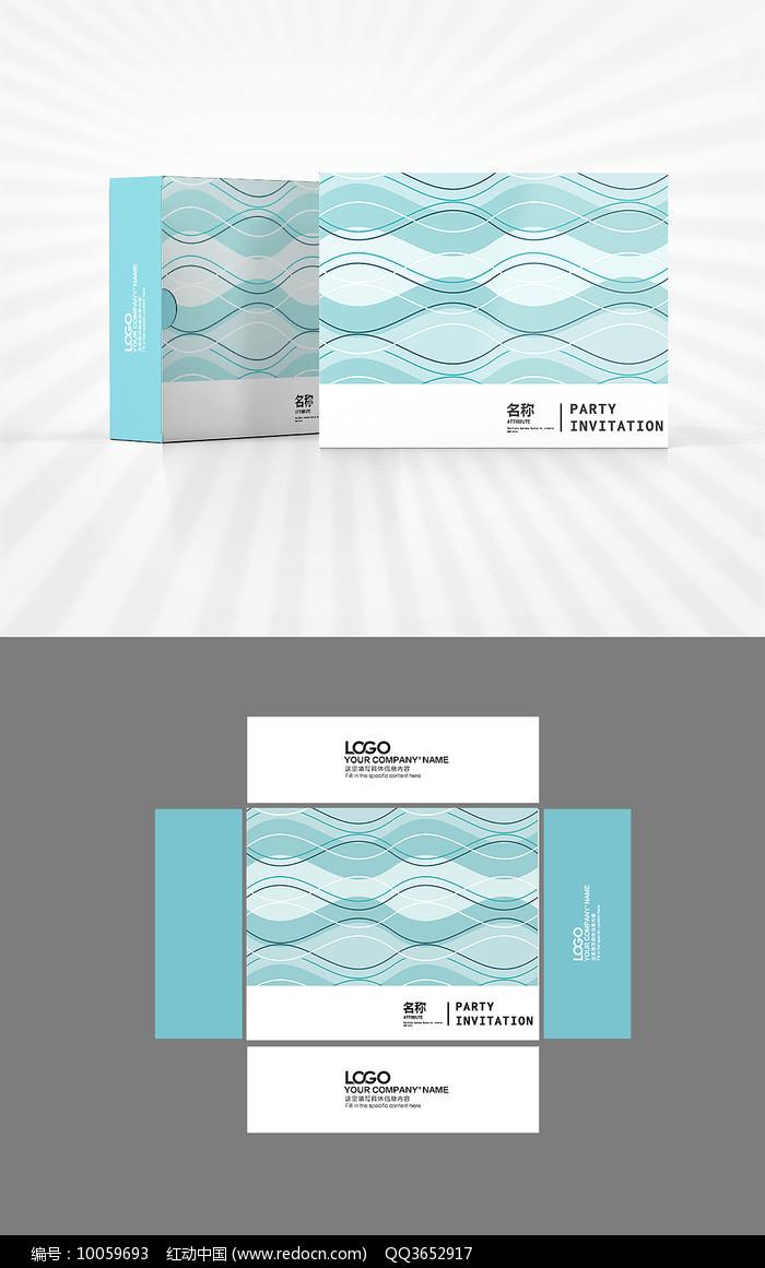 灵动曲线包装盒设计图片