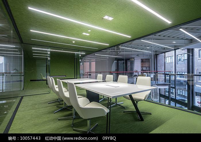 绿色清新会议室设计图片