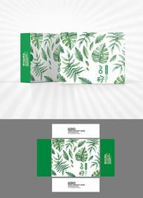 绿叶背景图案包装设计