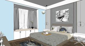 明亮的现代卧室