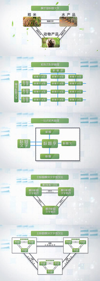 企业拓扑图结构模式图AE模版 aep