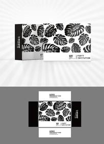 热带植物背景包装盒设计