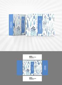 水彩植物图案包装盒设计