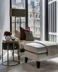卧室休息区的沙发椅 JPG