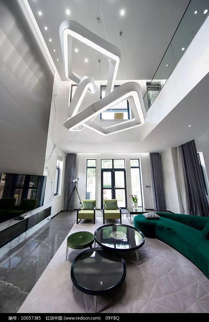 现代别墅客厅设计图图片