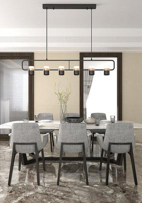 现代餐厅设计模型
