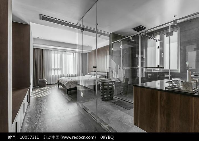 现代卧室套房设计图片