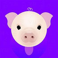 小猪男孩插画