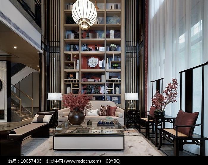 新中式典雅客厅图片