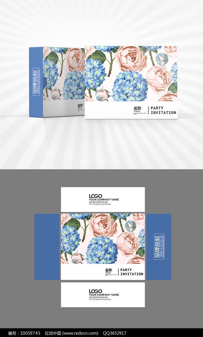 新中式花朵包装设计图片