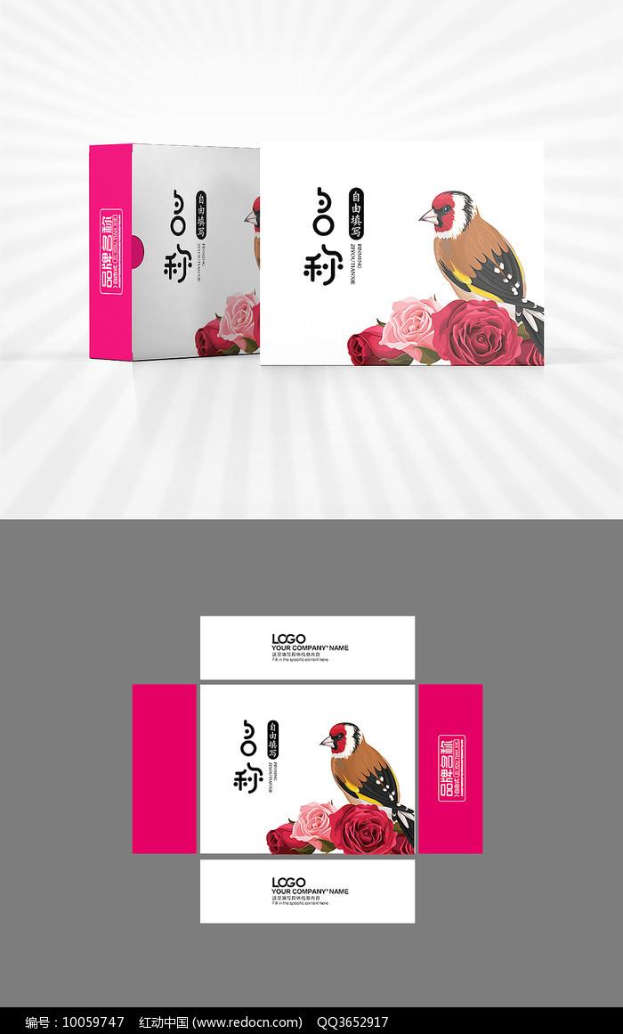 新中式花鸟包装AI图片