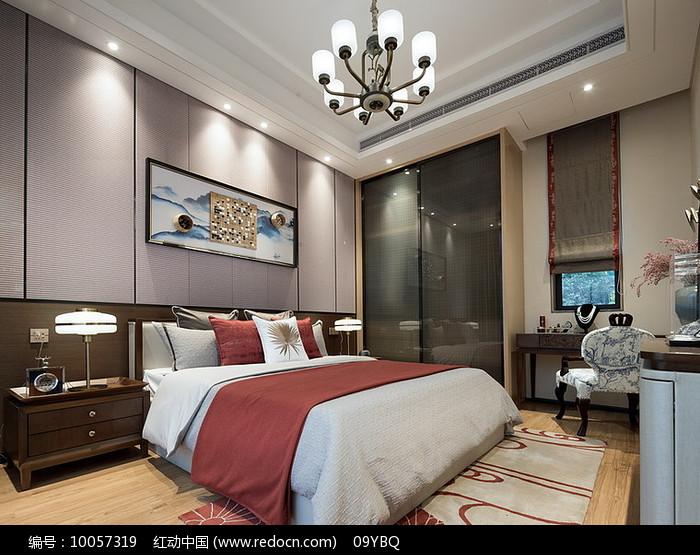 新中式卧室装修意向图片