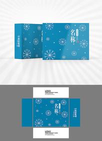 雪花背景包装盒设计