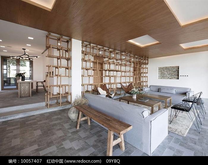 原野木色客厅图片