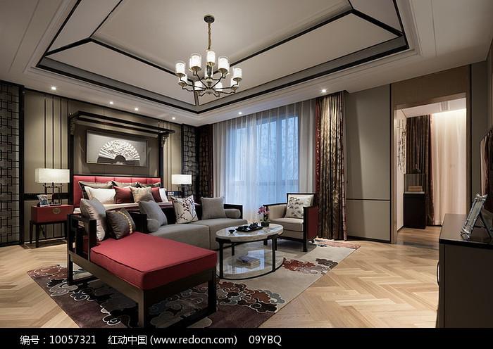 中式典雅套房卧室图片