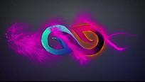 紫色粒子揭示出logo