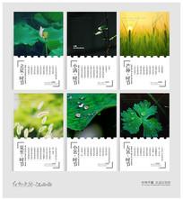 24节气夏季海报设计